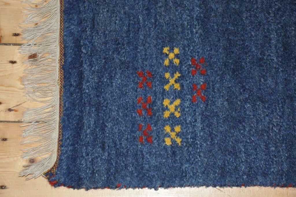 Ikea Indo Gabbeh Rug 100 Wool Blue Ca 120 X 180cm