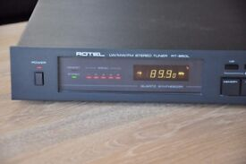 Matt Black Rotel RT-850L FM/MW/LW Stereo Tuner and Owners Manual - Mint Condition