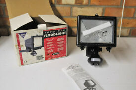 Security floodlight 500W with motion sensor - new, boxed, unused, with instructions