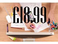 Cheap Web Design £18 Hosting & Free Domain Cheap Logo Design Web Developer Freelance Wordpress App