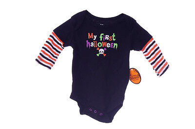 Boys Girls Baby Infant One Piece LS Shirt Top Halloween Outfit NB 0 3 6 9 Mo NEW - Top Baby Boy Halloween Costumes