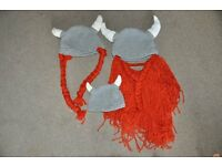 Baby Crochet Knit Costume Photo Prop Hats Outfits for whole Viking family!