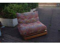 Solid wood futon