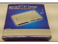 Integral all in 1 card reader multiple slot card reader/ writer