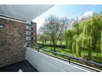 Two double bedroom apartment with balcony overlooking Well Street common.