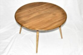 Vintage Retro 60's Ercol Windsor Circular Round Coffee / Side Table - As New - Fully Renovated