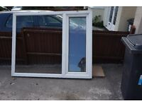 Double glazed white PVC window