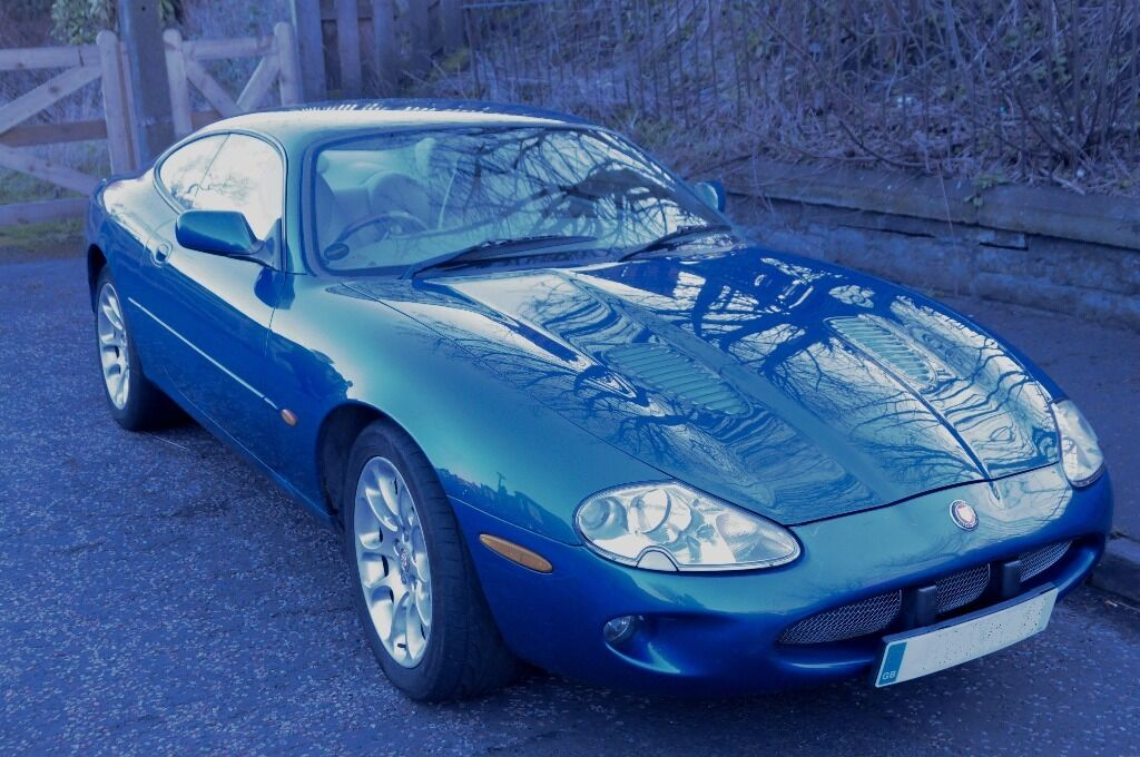 Jaguar XKR 1998 Antigua Blue. Oatmeal Leather Interior. 4.0L Supercharged  V8. 370bhp