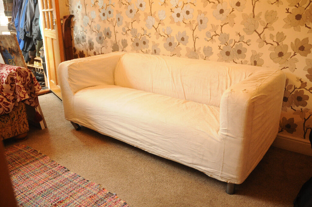 White Canvas Sofa