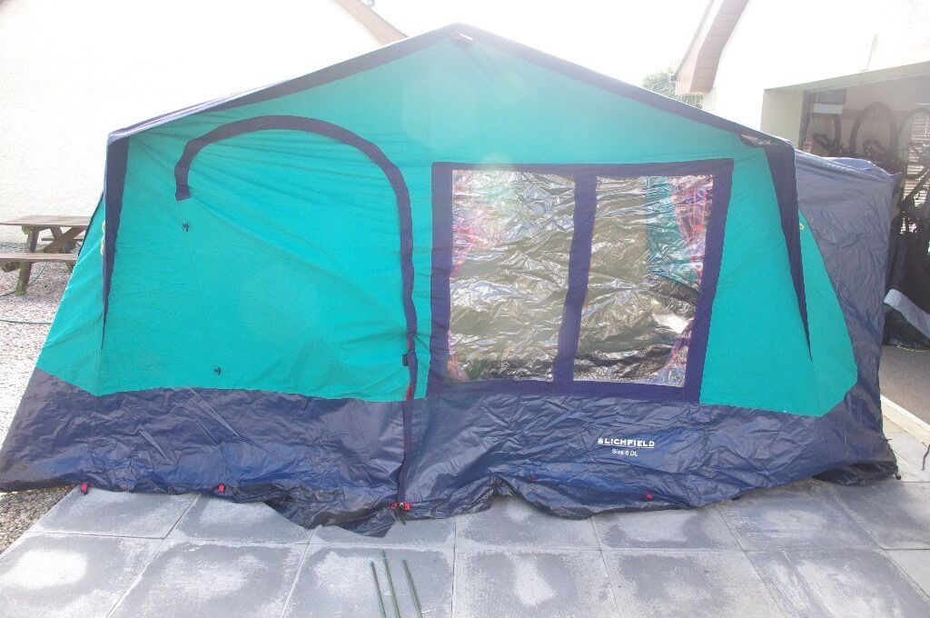Family Tent - 6 Person (six berth) Lichfield Canvas Size 6 DL : six berth tents - memphite.com
