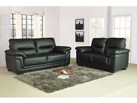 kansas leather sofas 32 seaters available in black or brown