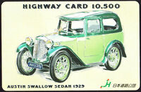 Phone Card Japan - Highway Card 10,500 - Austin Swallow Sedan 1929 -  - ebay.it