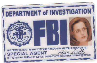 Dana Scully the Xfiles X-Files ID card Halloween Identification Card I.D. card (Halloween X Files)