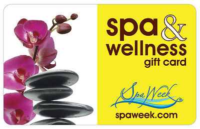 $50 Spa & Wellness Gift Card by Spa Week For Only $40! - FREE Mail Delivery