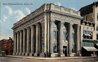 First National Bank Joliet Illinois Il Postcard