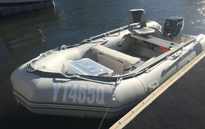 Inflatable boat 4.3 metres 25hp outboard custom setup great value Runaway Bay Gold Coast North Preview