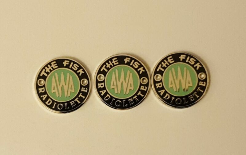AWA THE FISK RADIOLETTE ( one ) badge These are the historically correct ones