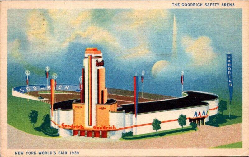Postcard The Goodrich Safery Arena New York Worlds Fair 1939