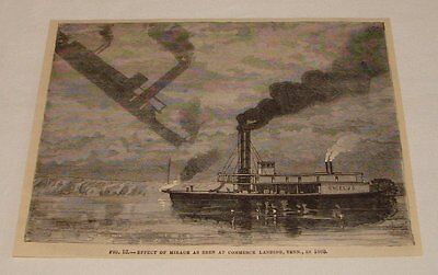 1881 Magazine Engraving   Mirage At Commerce Landing Tennessee