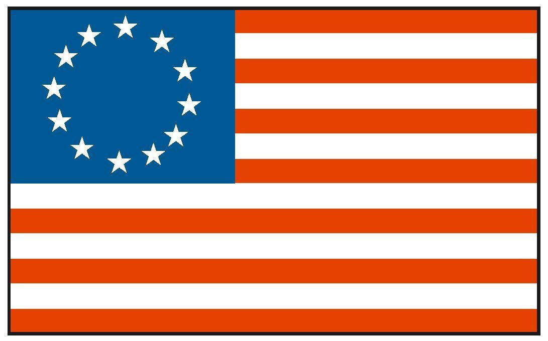 Home Decoration - Historical BETSY ROSS Flag Sticker MADE IN USA F56 YOU CHOOSE SIZE