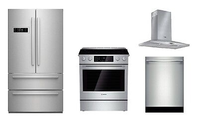 Bosch Kitchen Package 36 Refrigerator 30 DualFuel Range Hood – Hood Kitchen