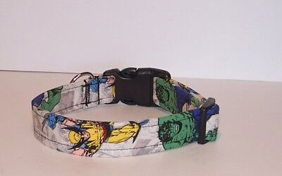 Wet Nose Designs Avengers The Hulk & Wolverine Dog Collar Marvel Superhero   - Superhero Dog Collars