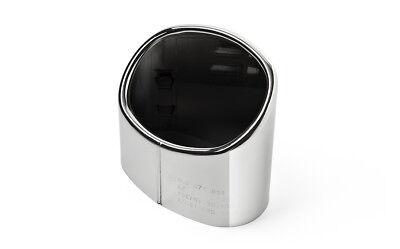 1x Premium Endrohr Chrom Oval Auspuff in Original Qualität für viele Fahrzeuge