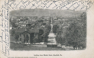 Clearfield Pa   Looking Down Market St  1907