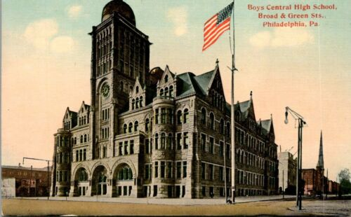 Postcard Boys Central High School Broad And Green Sts Philadelphia Pa