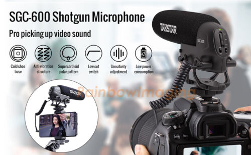 TAKSTAR SGC-600 Cardiod Shotgun Interview Microphone Mic for Canon Nikon DSLR