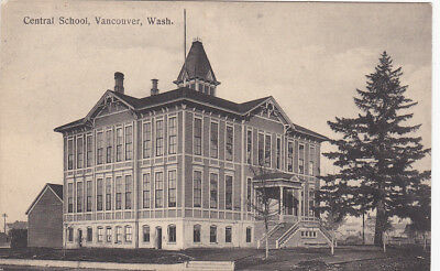 VANCOUVER, Washington, 1900-1910's; Central School for sale  Shipping to Canada