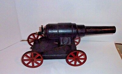 Antique Big Bang Cannon Cast Iron and Tin Early 1920's?