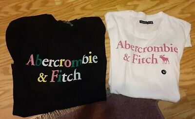 NWOT Lot of 2 Small Women's Juniors Abercrombie & Fitch T Shirts