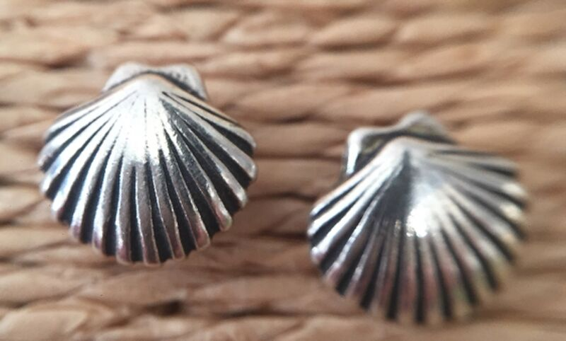 **PRICE REDUCED** STERLING SILVER POST EARRINGS 925 MADE IN THE USA SEASHELLS