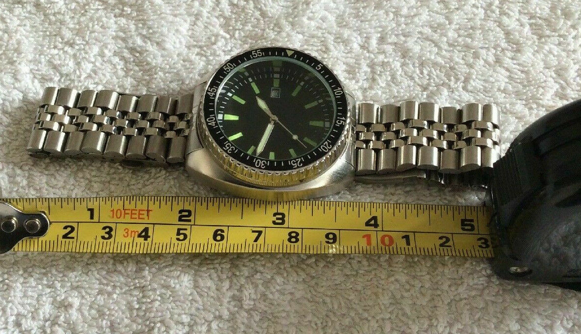 replica 1970 vintage military Combat Navy Diver Watch 45mm S