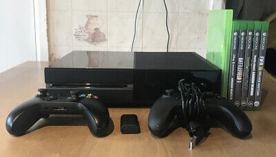 Xbox One 500gb Black Console - 2 Controllers & 6 Games