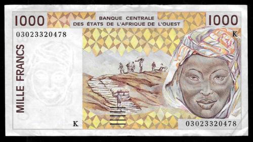 World Paper Money - West African States Senegal 1000 Francs 2002 @ Crisp VF