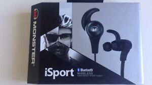 Monster Isport Wireless Bluetooth Earbuds