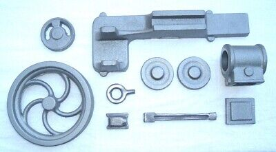 Set Model Engine (LIVE STEAM HORIZONTAL STATIONARY ENGINE MODEL CASTING SET CAST IRON)