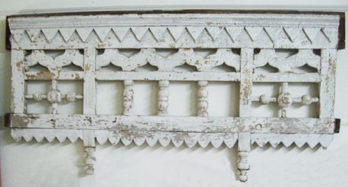 Antique Victorian Gingerbread Salvage Fretwork Pediment, Stick and Ball, Corbels
