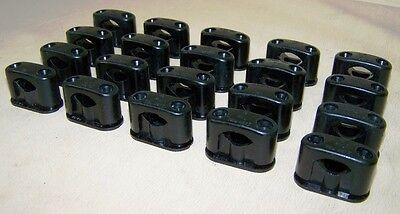 10 Alte Bakelit Kabelklemmen Size S, AP Schalter Steckdose Kabel