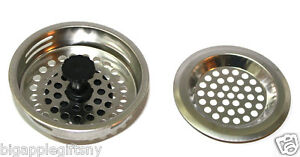 2 PCS STAINLESS STEEL KITCHEN SINK Strainer and Stopper Set  3