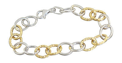 19 cm Armband Silber 925 Gold große ovale Glieder tolles Silberarmband Armkette