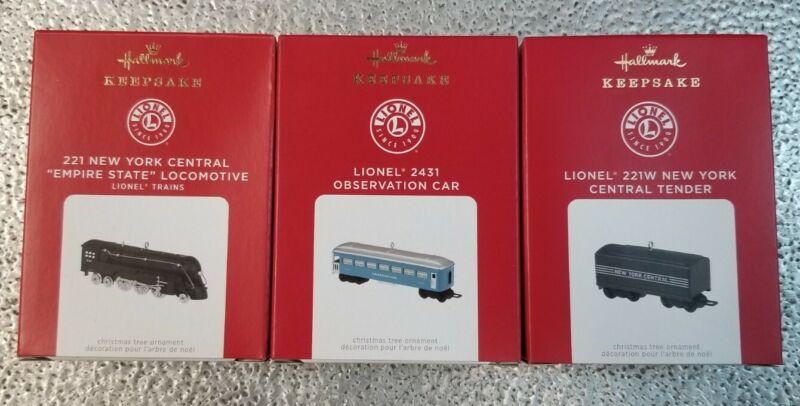 2021 Hallmark Keepsake Lionel Train Christmas ornaments - Lot of 3 - new