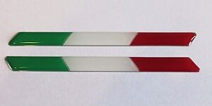 SLIMLINE ITALIAN FLAGS - HIGH GLOSS DOMED GEL Stickers/Decals