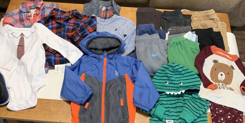 18 Mo Baby Boy Clothes Lot Euc Pristine Osh Kosh Nike Cat Jack Carter's Etc