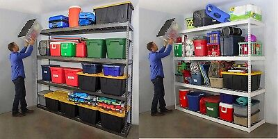 Grey Shelving (Create Order and Organization~ SafeRacks Garage Shelving (White or Gray) )