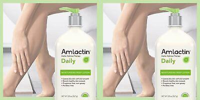 2X AmLactin Alpha Hydroxy Therapy Moisturizing Body Lotion, 12% Lactic Acid Alpha Hydroxy Acid Body Lotion