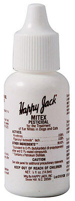 Happy Jack Mitex, Ear Mites,Dogs, and cats