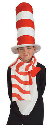 Child Cat in the Hat Scarf Candy Cane Red and White - Candy Cane Scarf